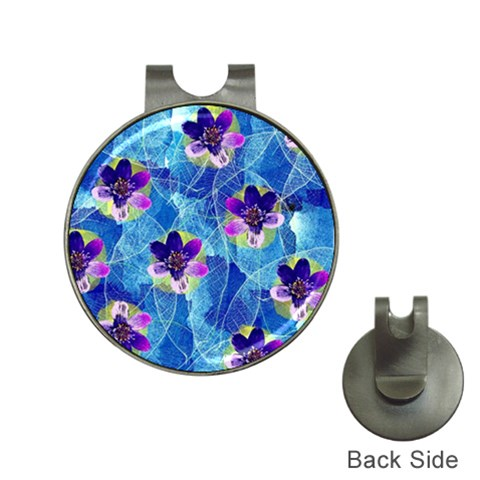 Purple Flowers Hat Clips with Golf Markers