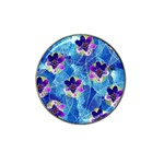 Purple Flowers Hat Clip Ball Marker Front