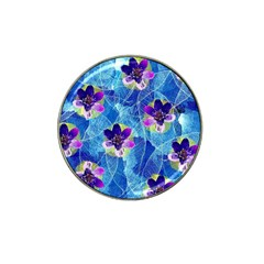 Purple Flowers Hat Clip Ball Marker (10 pack)