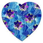 Purple Flowers Jigsaw Puzzle (Heart) Front