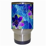 Purple Flowers Travel Mugs (White) Center