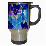 Purple Flowers Travel Mugs (White) Right