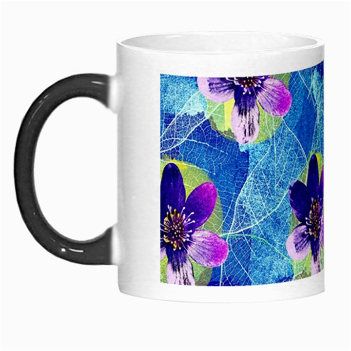 Purple Flowers Morph Mugs