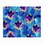 Purple Flowers Small Glasses Cloth Front