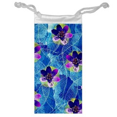 Purple Flowers Jewelry Bags