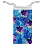 Purple Flowers Jewelry Bags Back