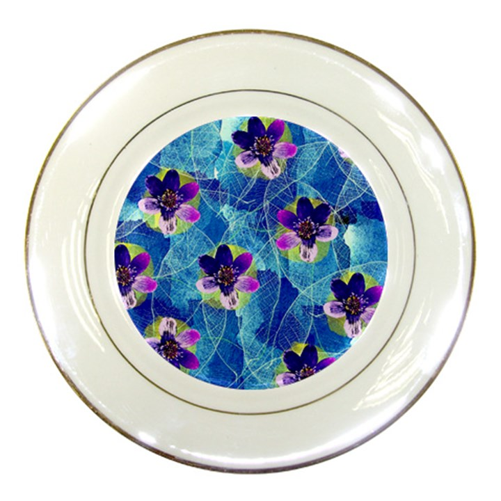 Purple Flowers Porcelain Plates