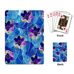 Purple Flowers Playing Card Back