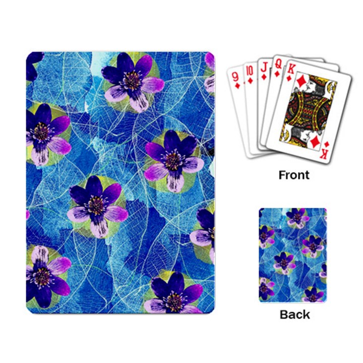 Purple Flowers Playing Card