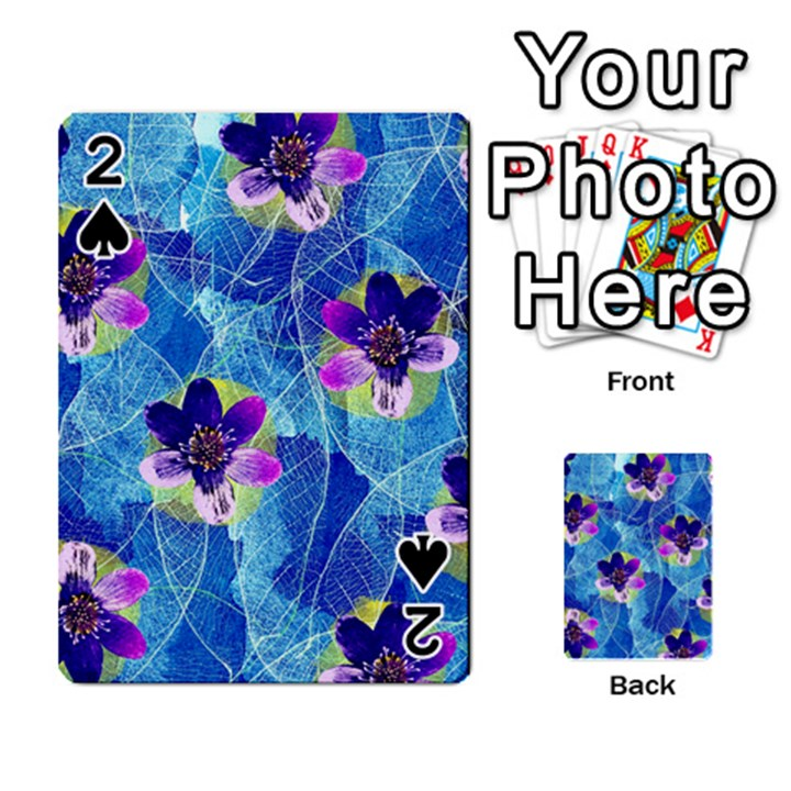 Purple Flowers Playing Cards 54 Designs