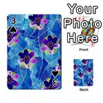 Purple Flowers Playing Cards 54 Designs  Front - Spade3