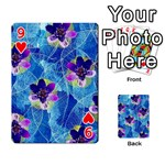 Purple Flowers Playing Cards 54 Designs  Front - Heart9