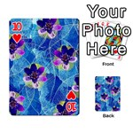 Purple Flowers Playing Cards 54 Designs  Front - Heart10