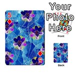 Purple Flowers Playing Cards 54 Designs  Front - Diamond5