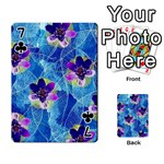Purple Flowers Playing Cards 54 Designs  Front - Club7