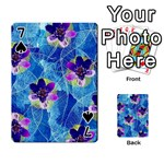 Purple Flowers Playing Cards 54 Designs  Front - Spade7