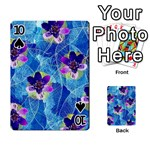 Purple Flowers Playing Cards 54 Designs  Front - Spade10