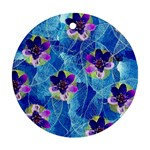 Purple Flowers Round Ornament (Two Sides)  Back