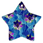 Purple Flowers Star Ornament (Two Sides)  Front