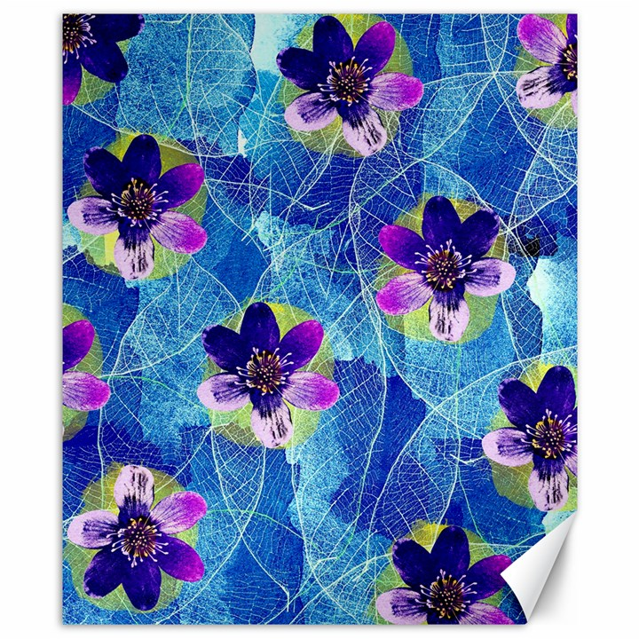 Purple Flowers Canvas 8  x 10