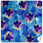 Purple Flowers Canvas 12  x 12   12 x12 Canvas - 1