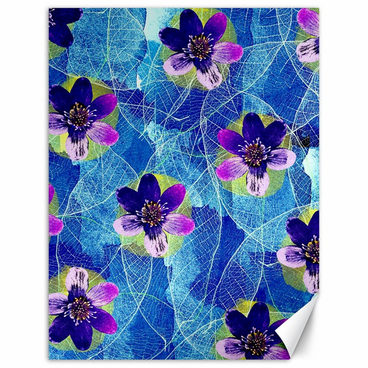Purple Flowers Canvas 12  x 16