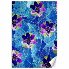 Purple Flowers Canvas 12  X 18