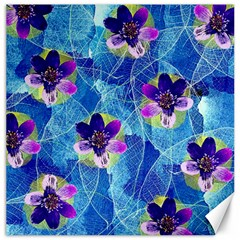 Purple Flowers Canvas 20  X 20