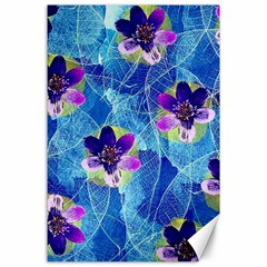 Purple Flowers Canvas 24  X 36