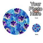 Purple Flowers Playing Cards 54 (Round)  Back