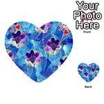 Purple Flowers Playing Cards 54 (Heart)  Front - Heart7