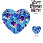 Purple Flowers Playing Cards 54 (Heart)  Front - ClubQ