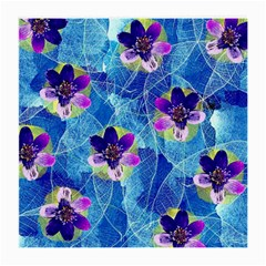 Purple Flowers Medium Glasses Cloth (2 Side)