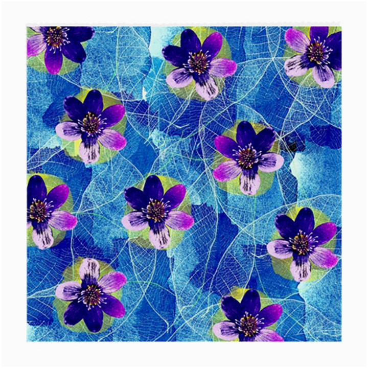 Purple Flowers Medium Glasses Cloth (2-Side)