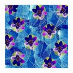 Purple Flowers Medium Glasses Cloth (2-Side) Back