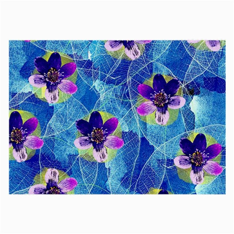 Purple Flowers Large Glasses Cloth