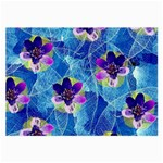 Purple Flowers Large Glasses Cloth (2-Side) Back