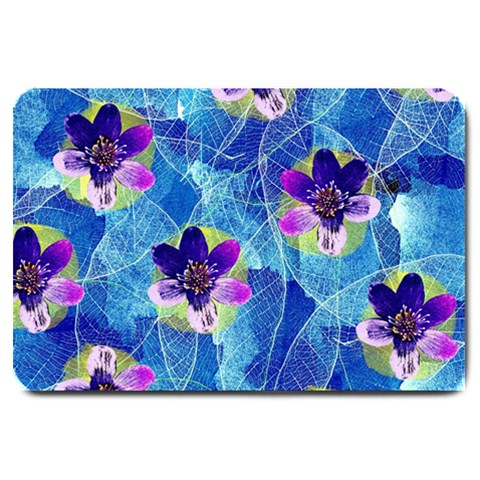 Purple Flowers Large Doormat