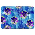 Purple Flowers Large Doormat  30 x20 Door Mat - 1