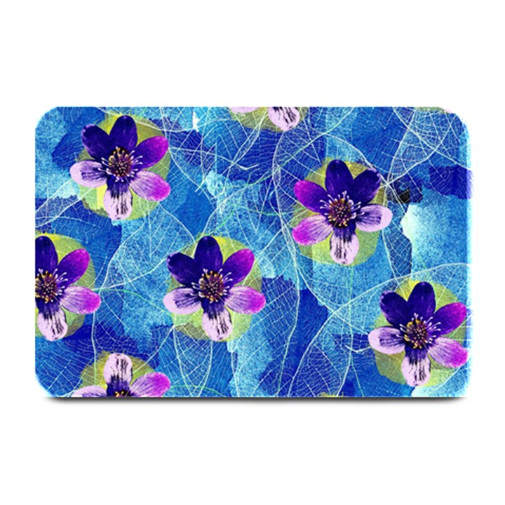 Purple Flowers Plate Mats