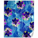 Purple Flowers Canvas 11  x 14   14 x11 Canvas - 1