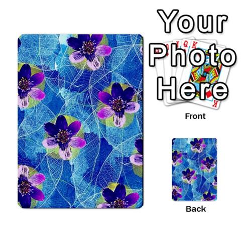 Purple Flowers Multi-purpose Cards (Rectangle)