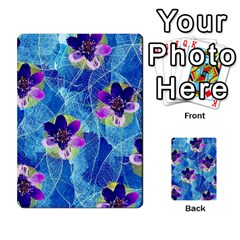 Purple Flowers Multi Purpose Cards (rectangle)