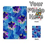 Purple Flowers Multi-purpose Cards (Rectangle)  Back 49