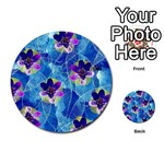 Purple Flowers Multi-purpose Cards (Round)  Front 1