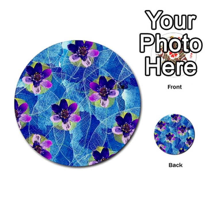 Purple Flowers Multi-purpose Cards (Round)