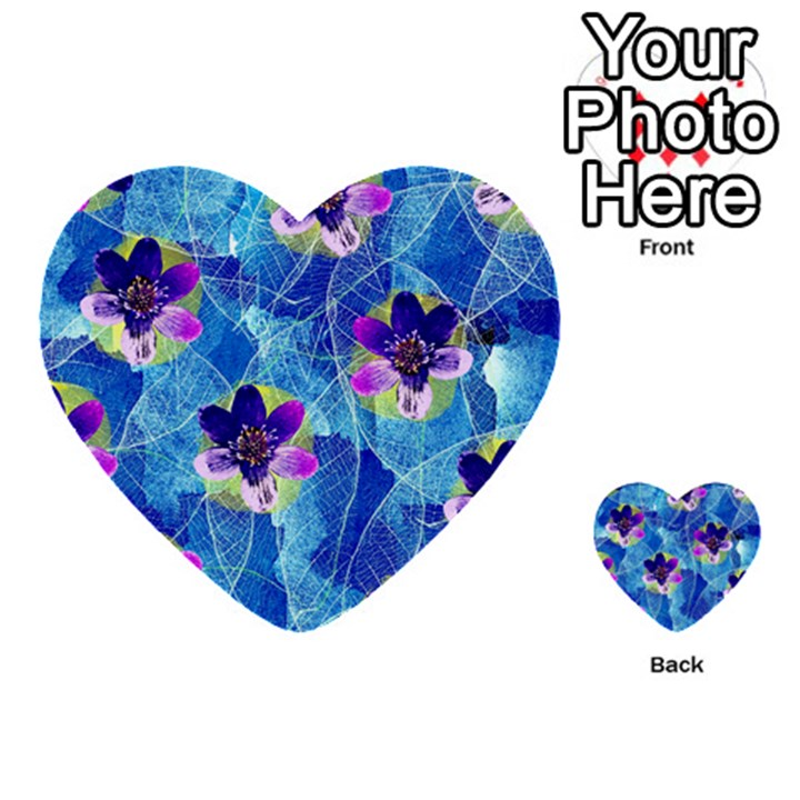 Purple Flowers Multi-purpose Cards (Heart)