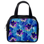 Purple Flowers Classic Handbags (One Side) Front