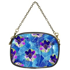 Purple Flowers Chain Purses (one Side)