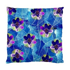 Purple Flowers Standard Cushion Case (two Sides)